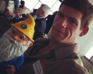 Me and my gnome - it's a love-hate relationship.