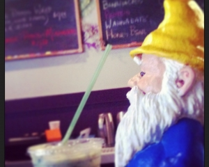 #PoeTheGnome enjoying his banacado smoothie
