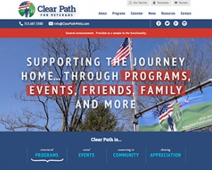 Clear Path for Veterans New Website