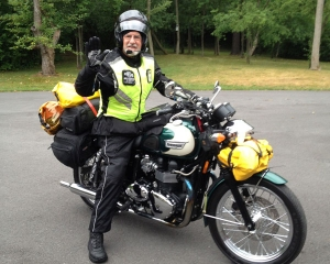 Paul and his motorcycle