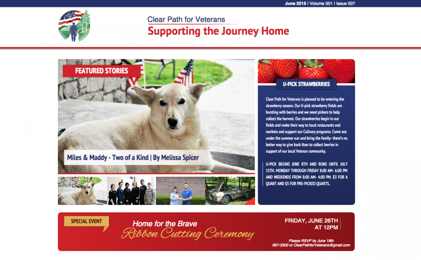 Clear Path for Veterans June Newsletter